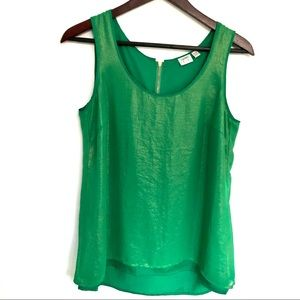 Esprit shimmery green sleeveless blouse